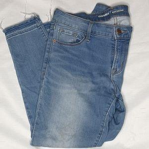 Old Navy Rockstar Petite Secret Soft Raw Hem Jeans